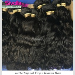 100% 9A Water Wave Human Virgin RAW Cambodian hair wavy texture 4 bundles Deal Dark Brown luster Durable Quality Hair