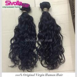2PCS Bundle Deal Cambodian Water Wave Human Hair Extensions Original Natural Human Hair Full end&Thick Hair