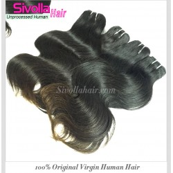 Cambodian Body Wave Original Human Hair Weaves 4 Bundle a Lot Machine Double Tight Weft