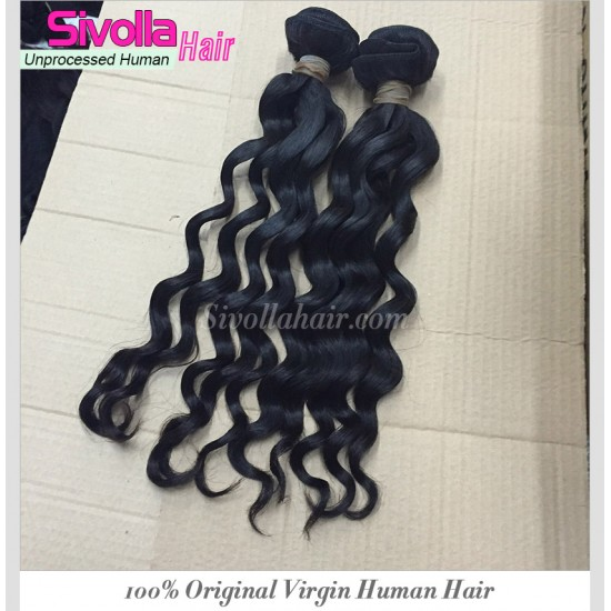 Wholesale 2PCS/LOT 10A Unprocessed  Cambodian Loose Deep Wave Bouncy Wavy curly Virgin Hair bundles Deals Can Be Dyed