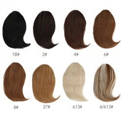 Sivolla 20g Gradient Human Hair Bangs Front Clip Hair Fringe 8 Color Choice