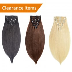 Fuller Straight Clip In Human Hair Extensions Colored Remy Human Hair| Sivolla Hair