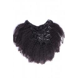 Afro Kinky Curly 4C 4B Natural Color (#1B) Clip In Human Hair Extensions | Sivolla Hair | 120Gram/Set 8Pcs/Lot
