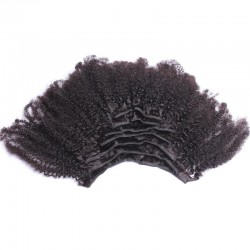 Afro Kinky Curly 4C 4B Natural Color (#1B) Clip In Human Hair Extensions | Sivolla Hair | 120Gram/Set 8Pcs/Lot