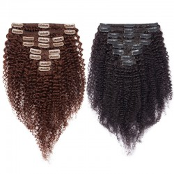 Clip In Human Hair Extensions 120g/pack Afro Kinky Curls Mongolian Virgin Hair | Sivolla Hair