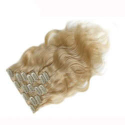 Blonde Color #613 Body Wave Clip-in Human Hair Extension 7Pcs/Lot   Sivolla Hair