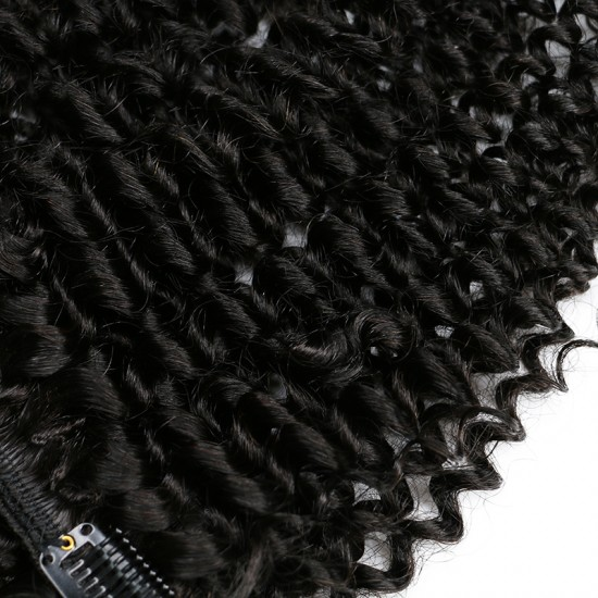 Kinky Curly Clip In Human Hair Extension