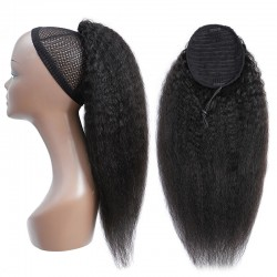 Kinky Straight Human Hair Extension Ponytail Remy Hair Extend Fuller Look Natural Color | Sivolla Hair