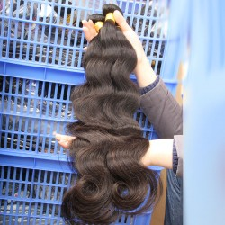 "2pcs/lot New Texture Indian Body Wave Human Hair Weaving wave hair 12""-30"" Unprocessed virgin hair Natural Shinny HAIR"
