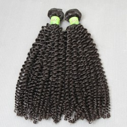 2 Bundle deals Virgin Malaysian Human Hair Kinky Curly Extension Exotic Grade 9A Unprocessed Raw Hair Weft Cuticle Aligned