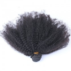 Afro Kinky Curly Hair Bundles Deal with Lace Frontal 13x4 Closure Pre-Plucked Natural Hairline Ear to Ear Frontal Closure