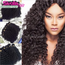3PCS Human Hair with 4X4 Lace Closure Burmese Virgin Human Hair with Closure Deep Curly Bundle Deals