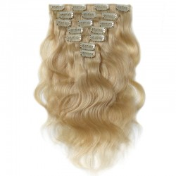 Body Wave #613 Blonde Color Clip In Human Hair Extensions 120g/pack 100% REMY Hair Pieces | Sivolla Hair